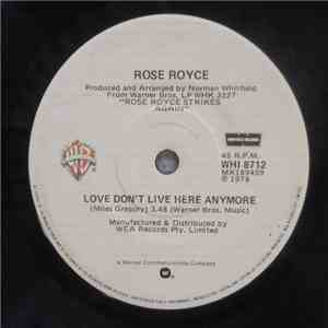 Rose Royce - Love Don't Live Here Anymore